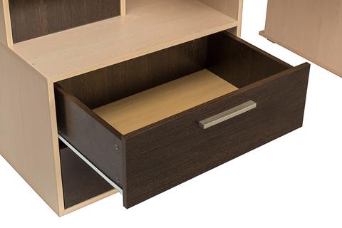 Стол компьютерный Брайтон 2000 Моби дуб паллада, венге