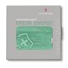 Швейцарская карточка Victorinox SwissCard Classic Fresh Energy, бирюзовая