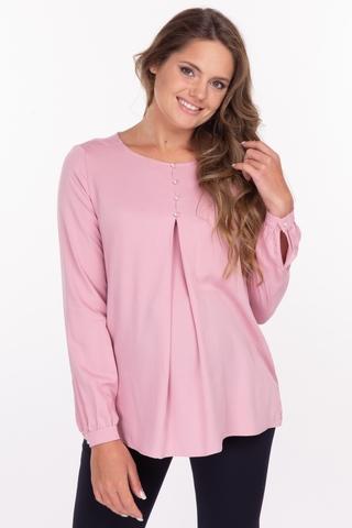 Блузка для беременных 11876 пыльно-розовый