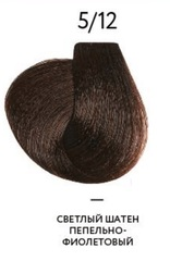 OLLIN MEGAPOLIS 5/12 светлый шатен пепельно-фиолетовый 50мл Безаммиачный масляный краситель для волос