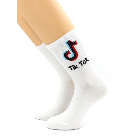 Носки белые с принтом