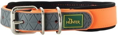 Ошейники Ошейник для собак Hunter Convenience Comfort 55 (42-50 см)/2,5 см биотановый с мягкой горловиной оранжевый неон 63202.jpg