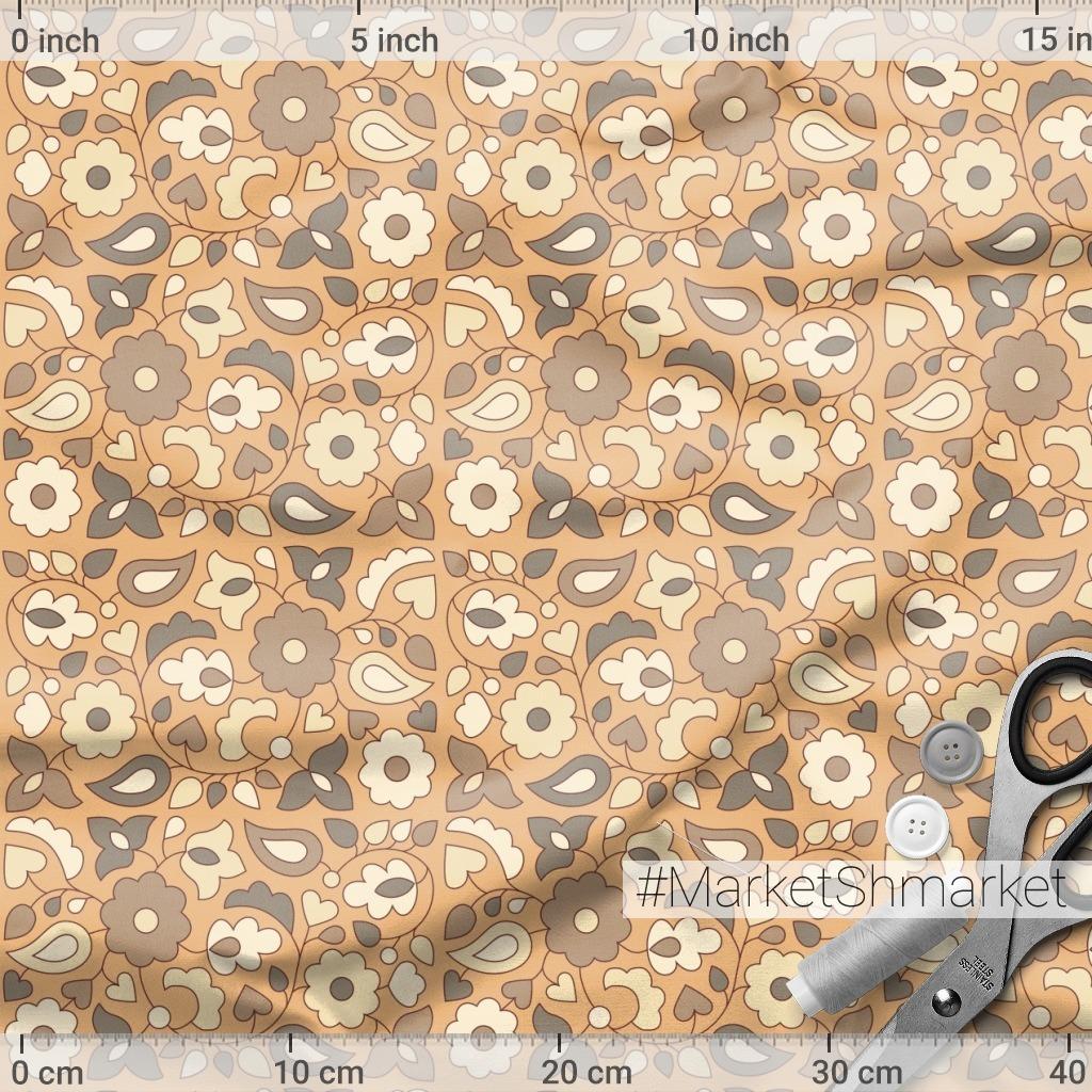 купить ткань татарский орнамент