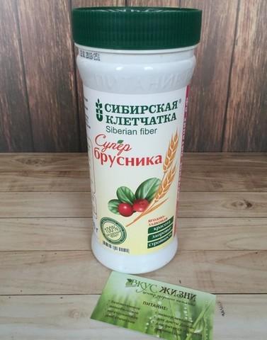 Клетчатка Сибирская Супербрусника 280г