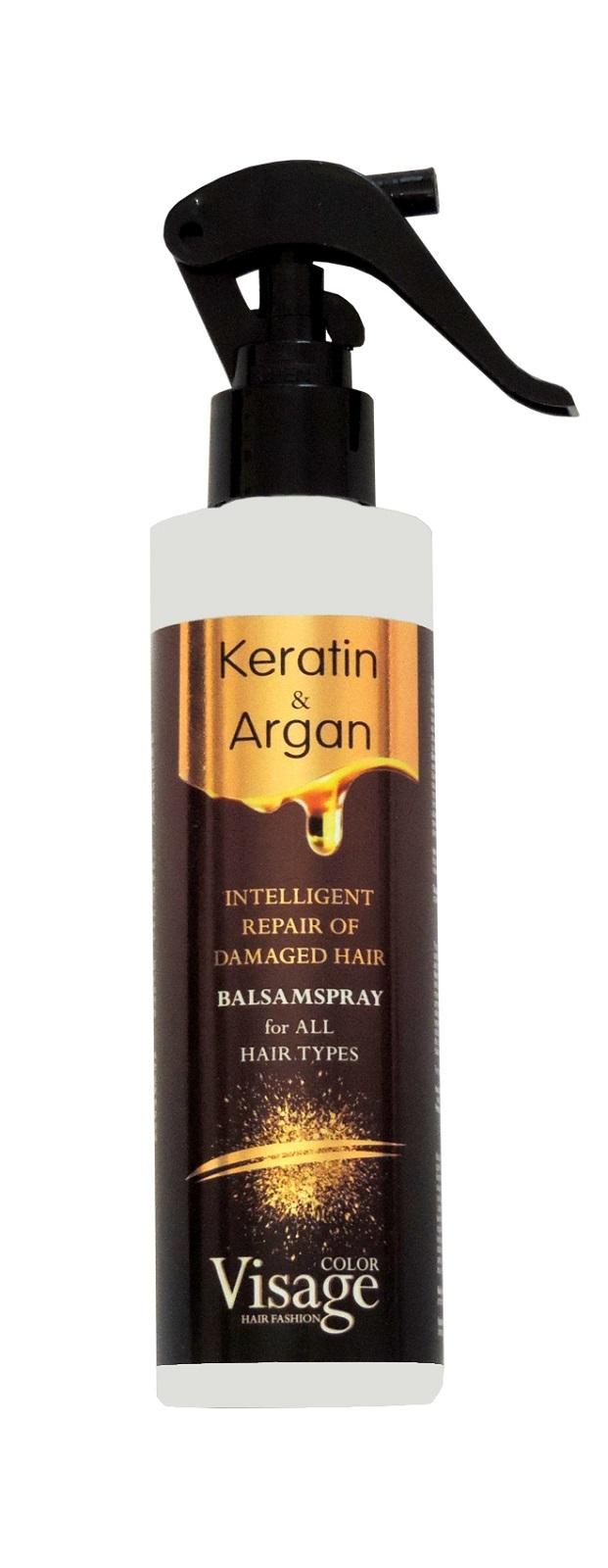 Двухфазный спрей-кондиционер для волос с кератином и аргановым маслом, 200 мл