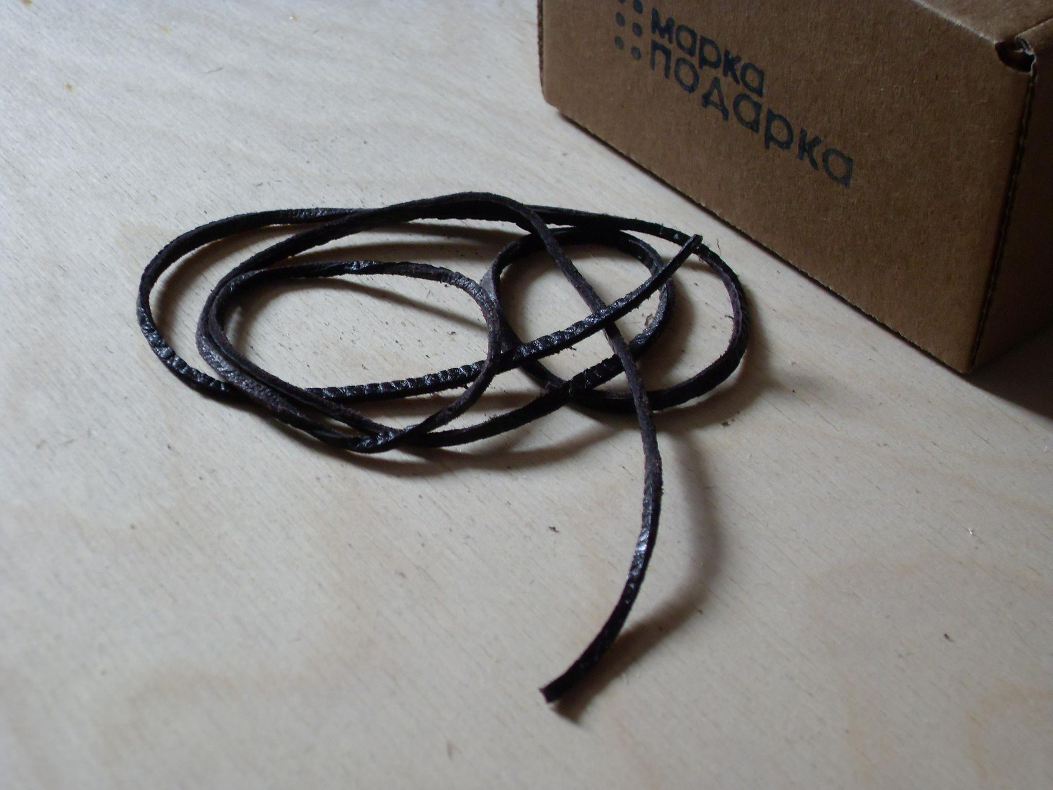 Шнурок кожаный 2-3 мм для кулонов 88 см из натуральной кожи