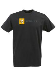 Футболка с принтом Рено (Renault) черная 001