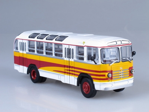 ZIL-158A Excursion white-yellow Soviet Bus (SOVA) 1:43