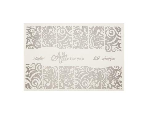 Фольга для дизайна ногтей цвет серебро 29 купить за 120руб