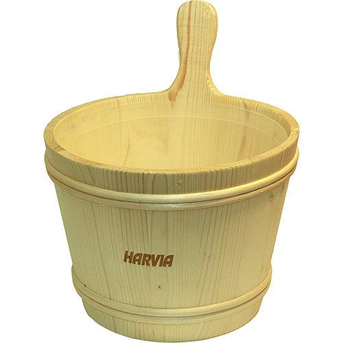 Шайка сосновая Harvia c пластиковой вставкой, 7 л