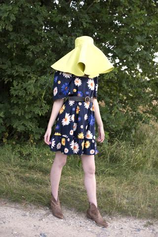 Платье из хлопка в ромашки