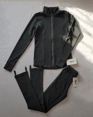 Костюм для фигурного катания тёмно-серый