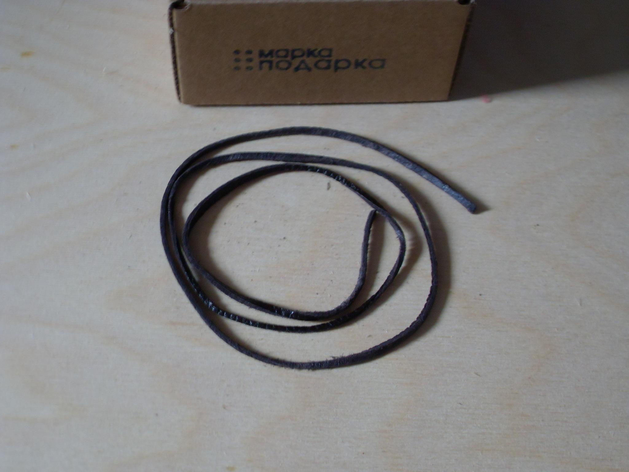 Шнур 88 см кожаный коричневый 2-3 мм без замка для кулонов mp001-88