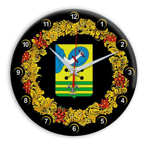 Часы в стиле Хохлома сувенирные Петрозаводск 03