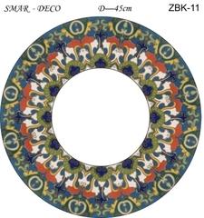 Эскиз для росписи, Зеркало диаметр-45см, SMAR-ZBK-11