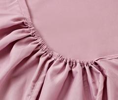 Простынь на резинке Valtery Джерси C Розовая, вид 3