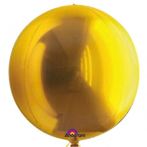 Фольгированный шар сфера золотая