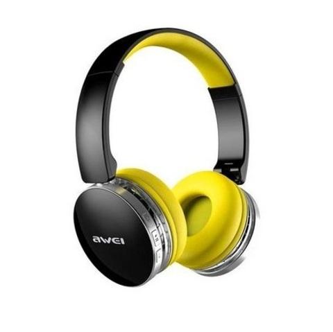 AWEI / Наушники bluetooth с микрофоном A500BL | черный с желтым