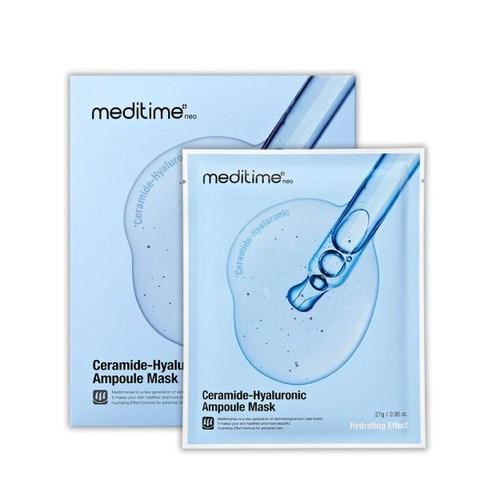 Тканевая увлажняющая маска с керамидами  Meditime Ceramide-Hyaluronic Ampoule Mask