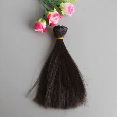 Волосся для ляльки,  Let's make, треси 15 см. Чорні