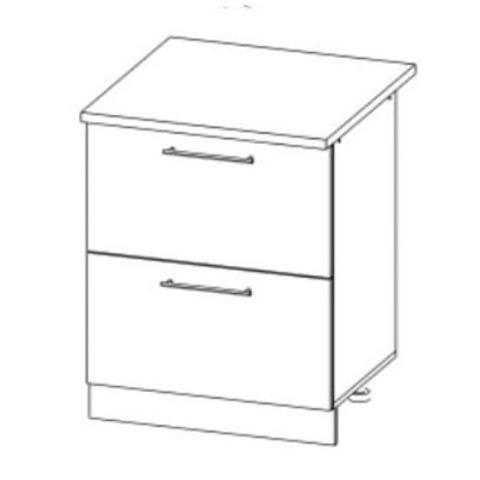 Кухня Вита шкаф нижний комод (2 ящика) 850*600