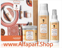 Alfaparf Milano Precious Nature Almond & Pistachio Косметический набор для окрашенных волос 2020 Gift box or linen bag
