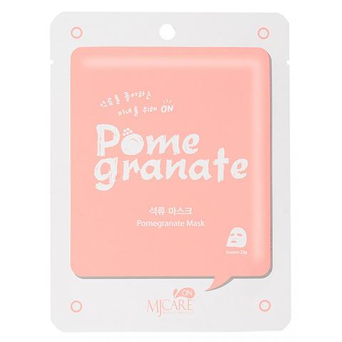 Маска тканевая с экстрактом граната Mijin Care On Pomegranate Mask Pack