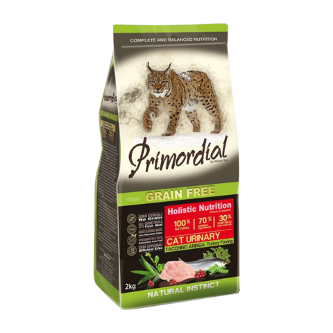 Primordial Urinary Сухой корм для кошек для профилактики МКБ с индейкой и сельдью (беззерновой)