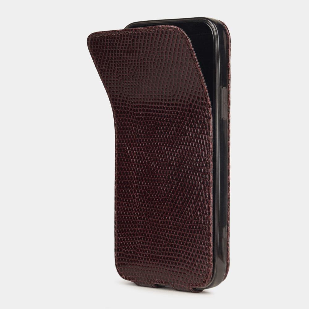 Case for iPhone 12 Pro Max - lizard bordeaux
