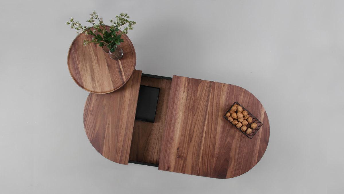 Журнальный стол BATEA L орех - вид 4