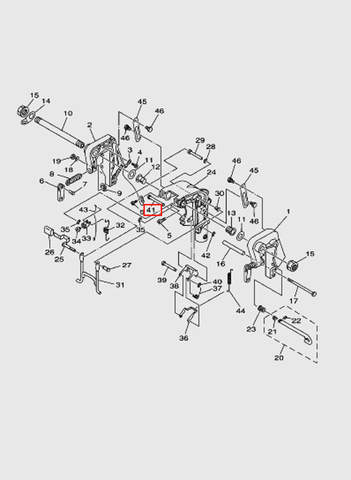 Вал замка заднего хода  для лодочного мотора T15, OTH 9,9 SEA-PRO (13-41)
