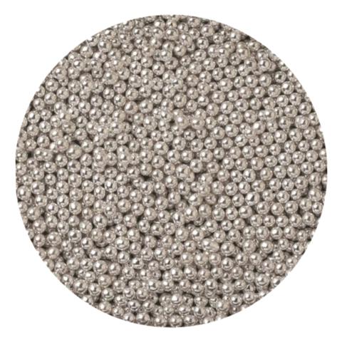 Посыпка шарики серебряные металлизированные 2мм (25г)
