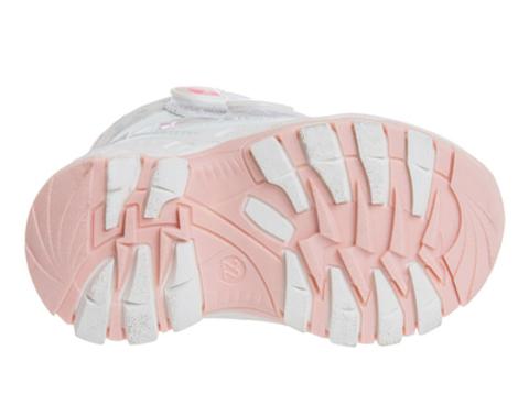 Ботинки белый леопард, белый/розовый, Сказка (ТК Луч)