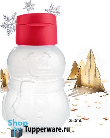 Бутылка-эко «Снеговик» 350мл