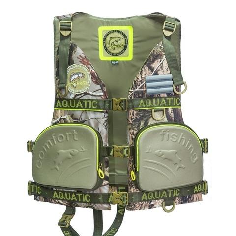 Жилет страховочный Aquatic ЖС-03К, размер 48-50, камуфляж