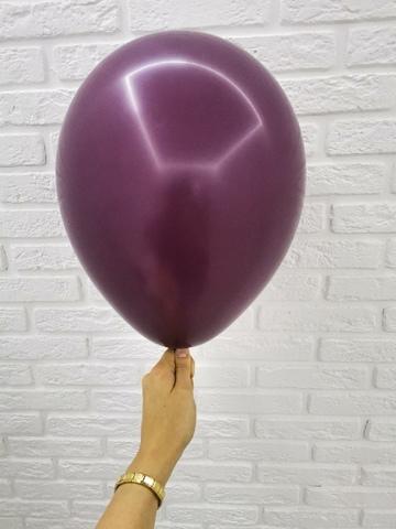 №22 Бургундия Гелиевый шар пастель 30см с обработкой