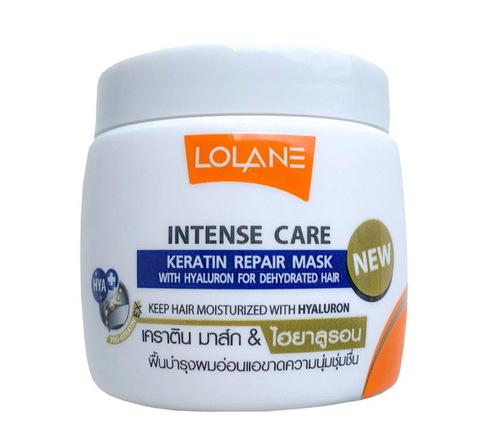 Маска с Кератином и Гиалуроновой Кислотой  Lolane Keratin Repair Mask  для обезвоженных волос, 200 гр.