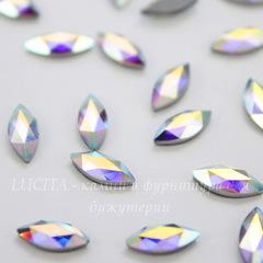 2201 Стразы Сваровски горячей фиксации наветте Crystal AB (8х3,5 мм)