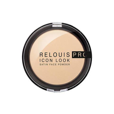 Компактная пудра RELOUIS PRO Icon Look satin face powder тон 01