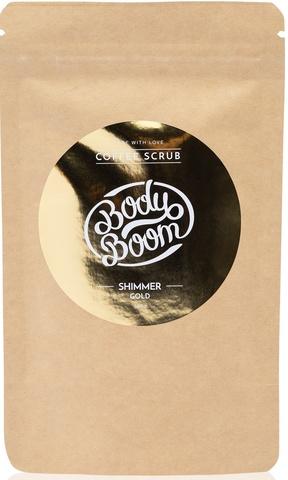 BODY BOOM Кофейный скраб для тела Shimmer gold 100г