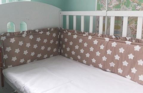 Бампер в кроватку для новорожденного