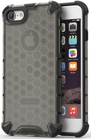Чехол на iPhone 7 и iPhone 8, ударопрочный, темный корпус от Caseport, серия Honey