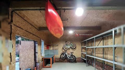 Проект №16: хозблок 31 кв.м с потолочным креплением для байдарки
