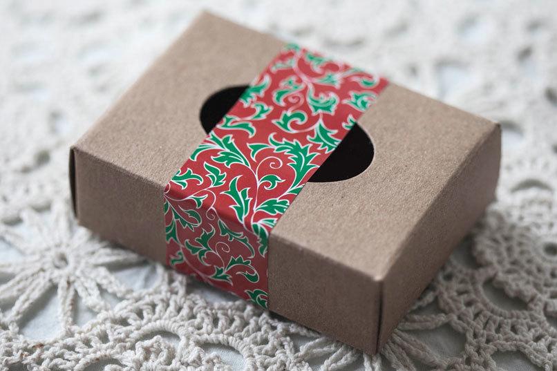 Этиклейка на упаковку для мыла Рождество