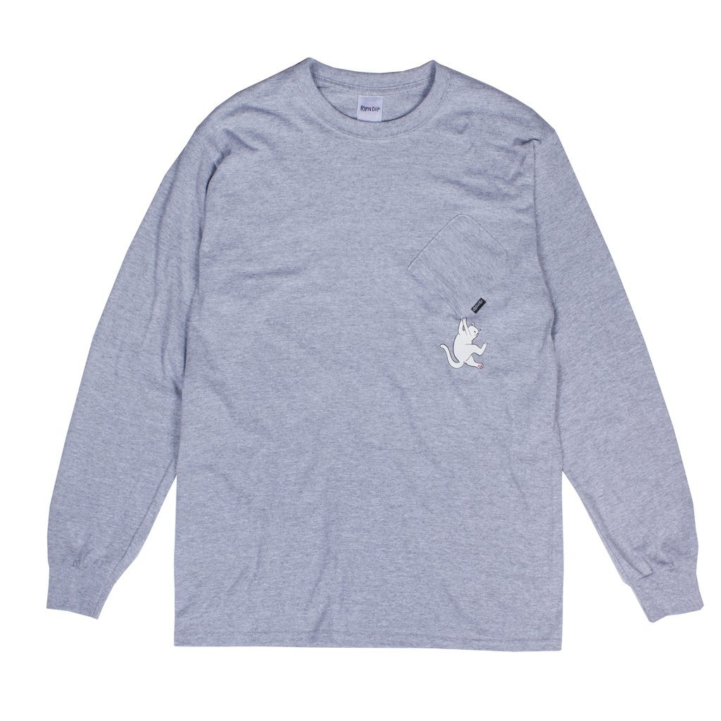 Лонгслив RIPNDIP Hang In There (Heather Grey)