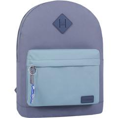 Рюкзак Bagland Молодежный W/R 17 л. серый/тифани (00533662)