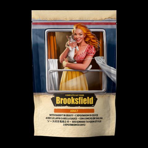 Brooksfield Adult Rabbit Консервы для кошек с кроликом в соусе (пауч)