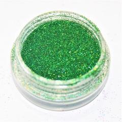 Дизайн для ногтей глиттер голография зеленый.