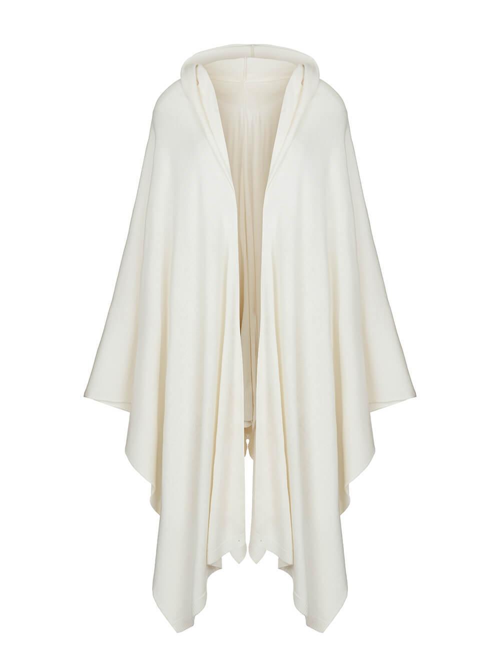 Женский шарф молочного цвета из 100% шерсти - фото 1