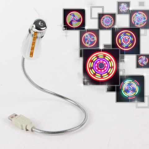 Гибкий USB вентилятор со светодиодной подсветкой для ноутбука